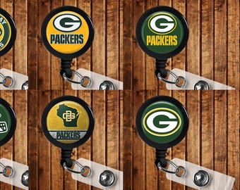 Green Bay Packers Badge Reel ID Holder NFL Football