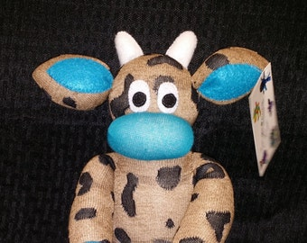 Custom Handmade Sock Cow