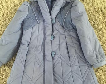 Vintage Lavendar Winter Coat made by Kids Wear by Paramount