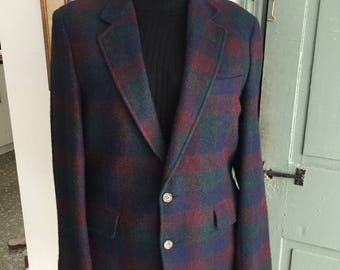 Vintage 1980's-1990's Multi Colors Plaid Wool Jacket Size (M) Made in USA