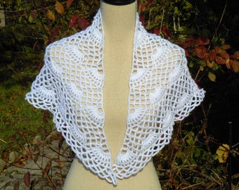 White shawl for baptism or small bridesmaid crochet