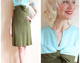 1960s Dress // Mint Tea Shift Dress // vintage 60s dress