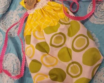 Project Bag - Citrus & Yellow Moroccan Lattice