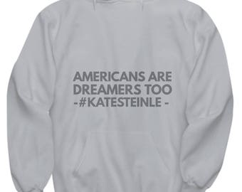 Hoodie - Americans Are Dreamers Too - Gray