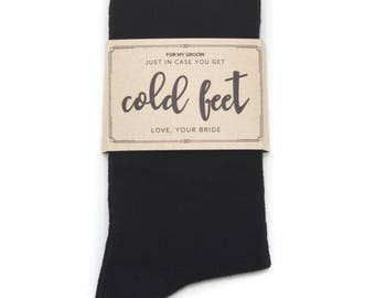 Just In Case of Cold Feet Sock Label | Groom Gift from Bride | Wedding Day Gift Idea for Groom from Bride