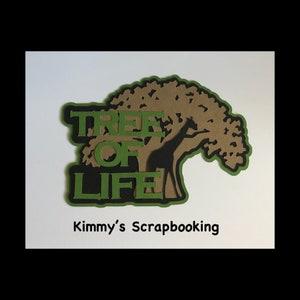Tree of life scrapbook title premade paper piece