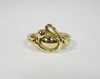Freeform Handmade Bronze Ring (one of a kind)   BR008