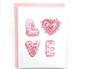 Valentine's Day Card // Valentine's Card // Happy Valentine's Day Card // Greeting Cards // Love Card // Blank Card  \\ Love