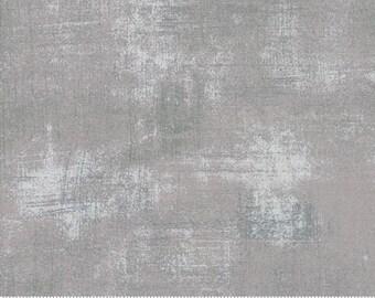 Moda Basic Grey Grunge SILVER Grey Gray Gris 30150-418 Fabric BTY