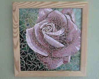 Pink Rose Glass Mosaic