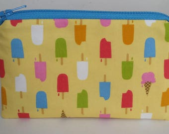 Little Zipper Pouch - Colorful Popsicles // Coin Purse // Gift Card Holder // Party Favor // Stocking Stuffer // Gift for Kids