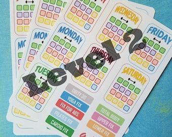 21-Day Fix Stickers for Bullet Journal, Erin Condren, Happy Planner, etc