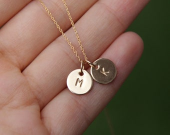 initial necklace, tiny initial necklace, gold filled initial, monogram necklace, personalized necklace