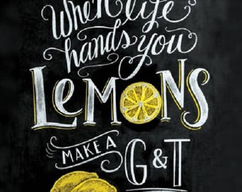 Full Pack - Napkins for Decoupage / Parties / Weddings - Life Hands You Lemons