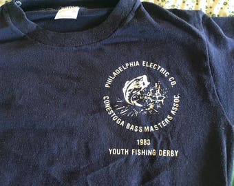 Vintage kids fishing derby shirt