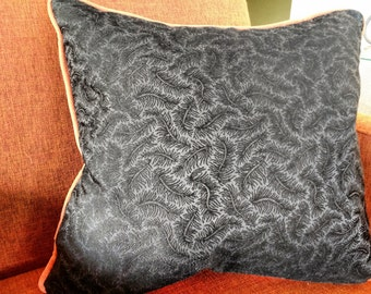 VINTAGE BROCADE FEATHER Pillow Cover