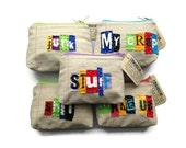 Items similar to wholesale 5 ransom notes zipper pouches for Wholesale craft supplies for resale