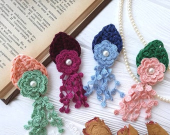 Crochet flowers (4pcs)