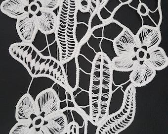 Romanian Point Lace ,Handmade Crochet Doily, Floral