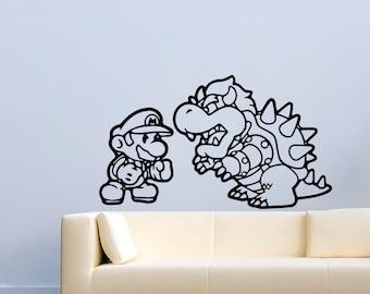 Game Vinyl Decal Super Mario Video Game Wall Stickers Murals Decor MK1525