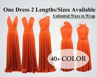 Bridesmaid dress long infinity dress orange short convertible bridesmaid dress infinity dress long maxi dress fall wedding dress