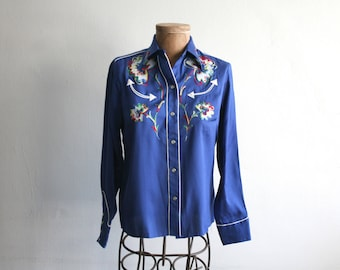 California Ranchwear Blue Western Shirt 34