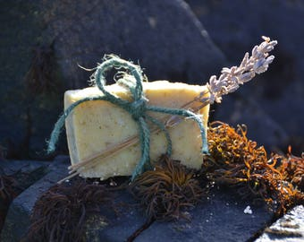 Lavender and Oatflake Organic Natural Soap - Soft, Gentle, Moisturising, AnBheanFeasaHerbals
