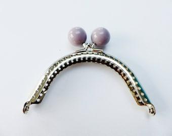 clasp of purse purple 8 cm