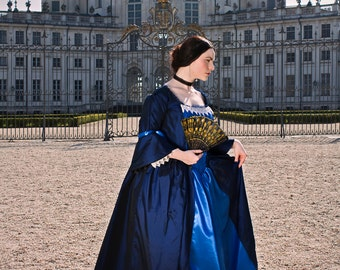 """18th century inspired dress """"Marquise"""", choose your size! Colonial Historical Costume Rococo Marie Antoinette Halloween Cosplay carnival"""