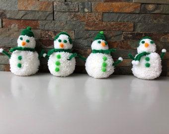 Pom Pom Snowman Decorations