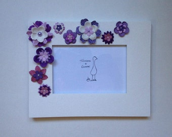 Purple Flower Picture Frame