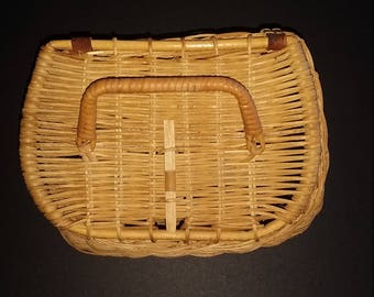 Vintage Native Trout Fishing Basket