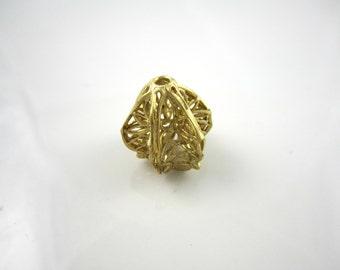 Raw Brass Carved Filigree Bead Brass Bead Filigree Findings Brass Beads Filigree Brass Jewelry Supplies 16x16mm (1pc) 96V7