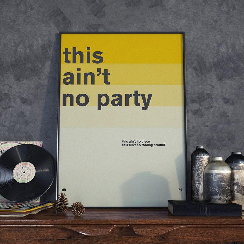 David Byrne Quote Poster Print, Minimal Art, Home Decor, Talking ...