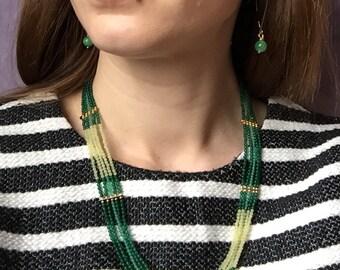 Necklace/Bracelet Jade Green