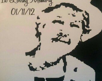 """8"""" In loving memory wall decal"""
