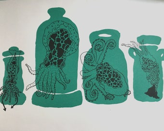 Limited edition cephalopods print