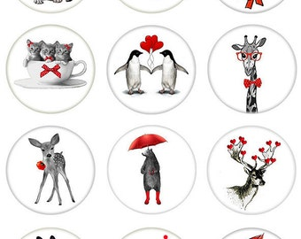For The Love of Animals in a Circle - Ceramic Decals- Enamel Decal - Fusible Decal - Glass Fusing Decal ~ Waterslide Decal - 89278