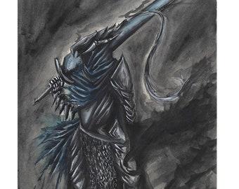 Blue Knight Profile-Print