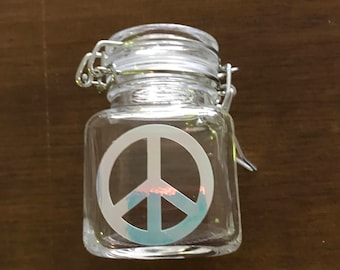 Peace sign Stash Jar