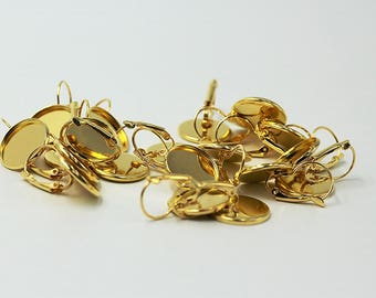 Unitedcovers 20 pieces = 10 pairs of earrings as blank-cabochons-16 mm Ø
