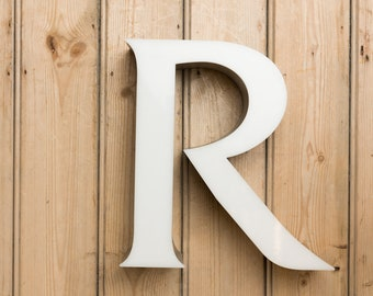 Vintage Letter R, letter R, home decor, wall art, vintage shop sign, Capital R, name and names, Initial R, word art