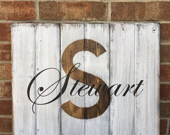 Personalized Sign, Wood Sign With Family Name