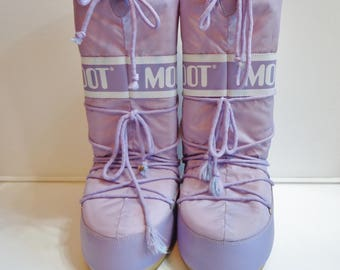 Tecnica Lilac Purple Moon Boots Y2k Colorful Fashion, Rave Clubwear Cosplay Costume Footwear Adult Large Winter Ski Snowboot
