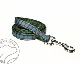 Flower of Scotland Tartan Leash // Matching Tartan Dog Leash in all widths // custom lengths // Plaid Leashes // Tartan Lead // Handmade