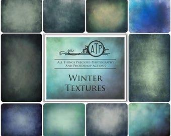 10 High Res Fine Art Digital WINTER Textures / Overlays