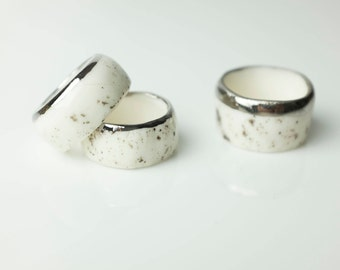 Ceramic Ring, Porcelain Ring, Handmade Porcelain Ring, Handmade Ceramic, Ceramic Ring, Ceramic Jewelry, Porcelain Jewelry, Handmade Jewelry