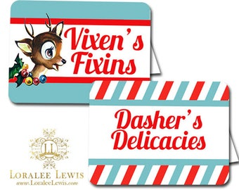 Reindeer Games Buffet & Party Signs by Loralee Lewis