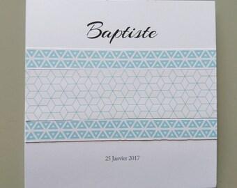 Invitation baby boy - congratulations card - range simple pastel - baptism invitation - birthday child