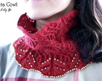 Tenta Cowl Knitting Pattern in PDF
